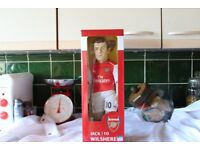 arsenal fc jack wiltshire 16 inch sports figure new in box.