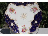 Stunning Handpainted Georgain Scalloped Plate John Ridgway 1830 - 1841 Flowers Antique Vintage