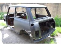 Austin Morris Mini. Excellent Shell. Unfinished RestoProject