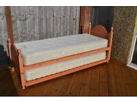 Single Bed with Trundle and both Mattresses