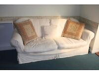 White Large 3-Seater Sofa (Second Hand)