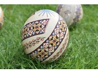 Beautiful Hand Painted Ostrich Eggs