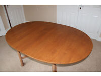 Ercol Saville Dining Table in Light Finish