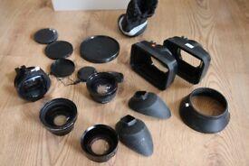 Selection of Camera Lenses, matt boxes, eye-pieces, lens caps, joblot £30.00 ono