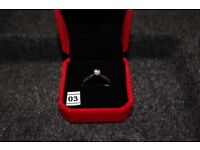 Platinum Solitaire Ring 0.25 Ct Natural Diamond Ring RRP £1200 Hallmarked