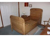 This is a delightful unique antique pine single bed in perfect condition ex Belgium _no providence