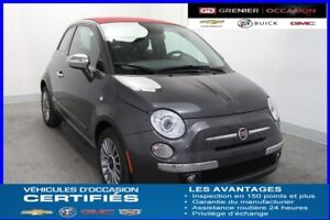 "2014 Fiat 500 Convertible Lounge *CUIR MAGS 15"" SIÈ.CHAUF*"