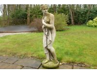 "STUNNING STONE GARDEN FIGURINE ""CLASSICAL LADY"""