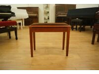 Mahogany second hand piano stool with music storage