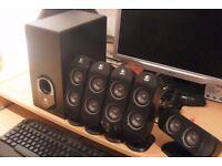 Logitech X-530 Multimedia Home Theatre Speaker System + ' S211PK 2.0 PC Stereo Speakers ' Throw In!
