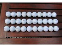 30 Used Titleist Nxt Tour Golf Balls in Good Condition