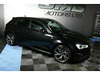 LATE 2014 AUDI A3 2.0 TDI S LINE BLACK EDITION STYLE AUTO 148 BHP (FINANCE AND WARRANTY)
