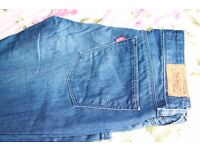 Levi's Jeans 572 Boot Cut Blue Woman waist 28x30 Length (UK Size 10) Immacute Condition Worn Once