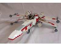 LEGO Star Wars X-Wing Fighter 2006 (Set 6212) complete with mini figures and instructions