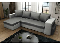 BRAND NEW CORNER SOFA BED WITH 2 STORAGE AND 2 FOOTSTOOLS FREE