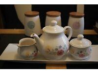 Teapot & Tea Set with Serving Platter