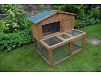 Rabbit hutch with run 4ft