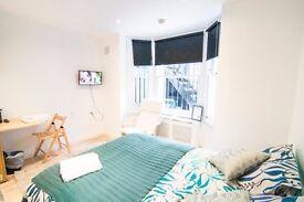 Newly refurbished large studio in West Kensington SHORT LET 3 MONTHS +