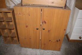 2 door wooden cupboard