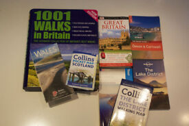 UK Various GUIDES x 3 & MAPS x 4 + 1001 Walks in Britain