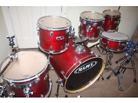 """Mapex M Series Cherry Red Lacquered 6 Piece Drum Kit (22"""" Bass) - DRUMS ONLY"""