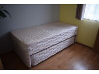 Single Guest Bed 3 in 1 with under pull out bed with 2 mattresses