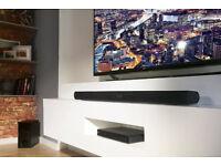 BRAND NEW IN BOX! SEALED! LG 2.1 ch Soundbar Sound Bar Subwoofer & Bluetooth USB 120W Black LAS355B