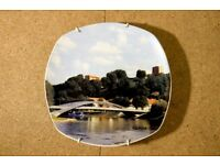 HAND-PAINTED decorative Vilnius porcelain plate, vintage - CHARITY SALE