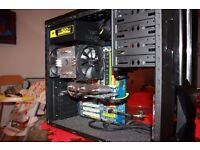 Intel Core 2 Duo with motherboard and CPU Cooler