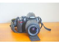 Nikon D 5000 with 18 - 55 mm lens