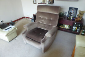Recliner Chair in good used condition mink colour - manual recliner