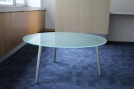 Round Glass Top Coffee Table (Hammersmith Area - Collection Only)