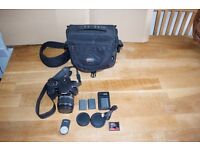 Canon EOS 400D with 18-55 Lens, Bag and several batteries