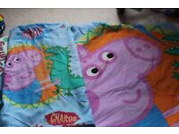 George Pig from Peppa Pig 2 x single duvet cover/pillow cases and rug - £8 ono