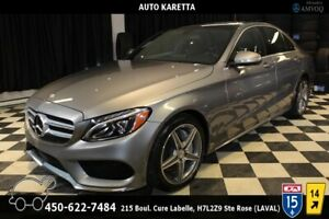 2015 MERCEDES-BENZ C300 4MATIC SPORT AMG NAVI/ PANO/CAMERA/LED