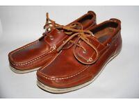 Genuine Henri LLoyd Stud Deck Men's Leather Shoes Tan Brown Summer Boat 9 UK