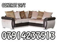 Brand New Black & Grey Or Brown/Beige Helix Sofa Available 654