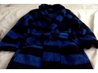 Striped blue and navy dressing gown 7-8 years