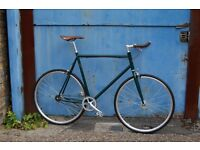 NEW IN!! !!! Steel Frame Single speed road bike fixed gear racing fixie bicycle HU9IO