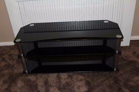 black glass tv unit very good condition