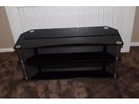 black glass tv unit very good condition