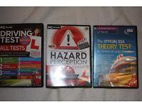 Car theory, HGV theory, Hazard perception CD's/ DVD's