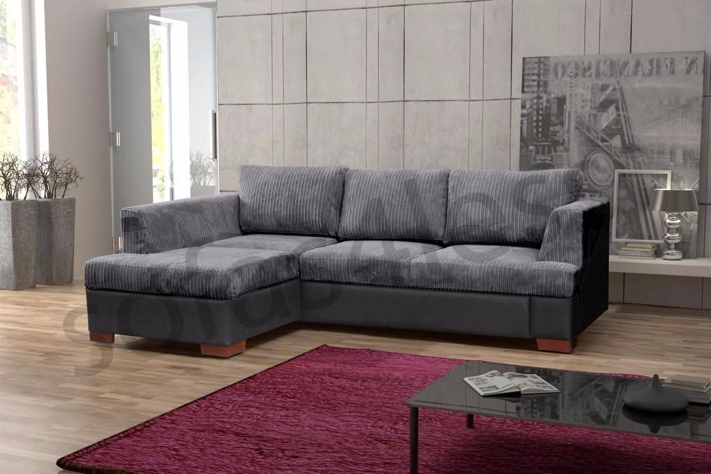 Madrid Taupe Beige Ultra Modern Living Room Furniture 3: BRAND NEW MADRID FABRIC CORNER SOFA BED WITH STORAGE IN