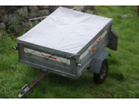 Erde 122 Tipping Car Trailer with cover