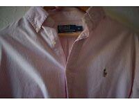 Ralph Lauren shirt, pink/white, M.