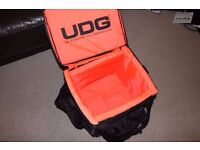 UDG 12inch Record Bag - As new - Black with orange padded interior.