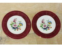 2 Beautiful Flower Pattern Plates, 10.5 inches diameter, Perfect for Serving Cakes etc, Histon