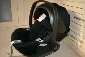 Cybex Aton Cloud Q baby car seat / lie flat reclining infant car seat - Black CAN POST