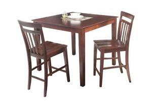 Avon Three Piece Dining Set Counter Height In Mahogany