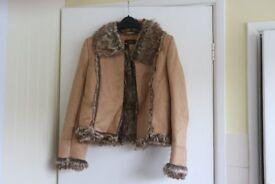 Womans Suede (faux) fur lined jacket size 12